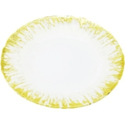 Classic Touch Set of 4 Milky Glass Dinner Plates with Flashy Gold-tone Design found on Bargain Bro Philippines from Macy's Australia for $148.37
