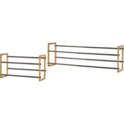 Trinity Basics 2-Tier Expandable Shoe Rack, Pack of 2