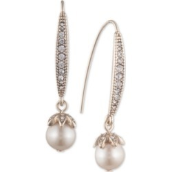 Marchesa Pave & Imitation Pearl Drop Earrings found on Bargain Bro India from Macy's Australia for $40.72
