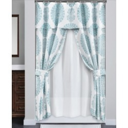 Evelyn Medallion 16P Shower Curtain Set Bedding found on Bargain Bro from Macy's for USD $115.52
