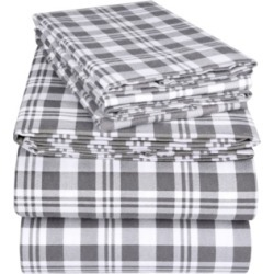 EnvioHome Flannel Sheet Set, Full Bedding