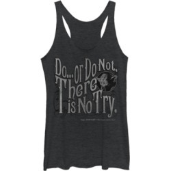 "Fifth Sun Star Wars Yoda Epic Quote ""Do Or Do Not"" Tri-Blend Racer Back Tank"