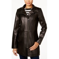 Cole Haan Asymmetrical Leather Jacket found on MODAPINS from Macy's for USD $207.99