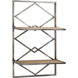 American Art Decor Wood and Hanging Shelf Rack
