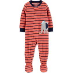 Carters Baby Boys Elephant Fleece Footed Pajamas
