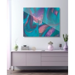 """Creative Gallery Tumba Part Two in Cyan Pink Abstract 16"""" x 20"""" Acrylic Wall Art Print"""
