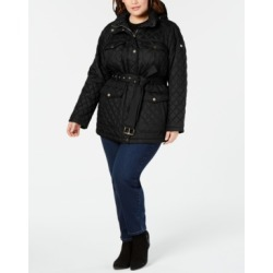 Michael Michael Kors Plus Size Belted Quilted Jacket found on MODAPINS from Macy's Australia for USD $141.79