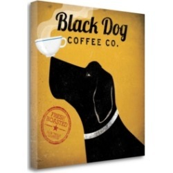 Tangletown Fine Art Black Dog Coffee Co by Ryan Fowler Giclee Print on Gallery Wrap Canvas, 20