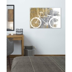 "iCanvas ""Gilded Bicycle"" by Wild Apple Portfolio Gallery-Wrapped Canvas Print (26 x 40 x 0.75)"