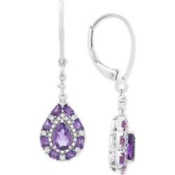 Multi-Gemstone Teardrop Drop Earrings (1-1/2 ct. t.w.) in Sterling Silver found on Bargain Bro Philippines from Macy's for $300.00