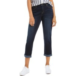 Style & Co Curvy-Fit Cuffed Girlfriend Jeans, Created For Macy's