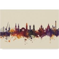 """Michael Tompsett Helsinki Finland Skyline Iii Canvas Art - 20"""" x 25"""""""
