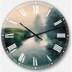 Designart Landscape and Nature Oversized Metal Wall Clock found on Bargain Bro Philippines from Macy's Australia for $149.26