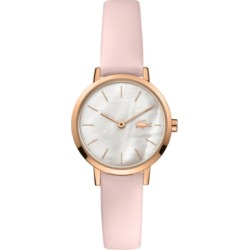 Lacoste Women's Swiss Moon Pink Leather Strap Watch 28mm found on Bargain Bro India from Macy's for $165.00