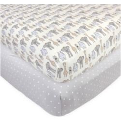 Hudson Baby Baby Girls and Boys Royal Safari Fitted Crib Sheet found on Bargain Bro India from Macy's for $24.99