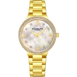 Stuhrling Original Women's Gold-Tone Case and Bracelet, White Mop Dial Watch found on Bargain Bro India from Macy's Australia for $80.74
