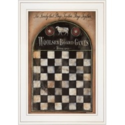 """Trendy Decor 4U Woolsey Board Game by Pam Britton, Ready to hang Framed Print, White Frame, 15"""" x 21"""""""