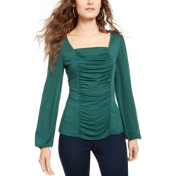 Thalia Sodi Ruched Square-Neck Top, Created for Macy's found on Bargain Bro Philippines from Macy's Australia for $31.40