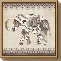 Amanti Art Boho Elephant Ii Neutral Canvas Framed Art found on Bargain Bro Philippines from Macy's Australia for $127.01