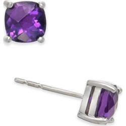 Amethyst Cushion Stud Earrings (1-1/5 ct. t.w.) in 14k White Gold found on Bargain Bro Philippines from Macy's for $119.70
