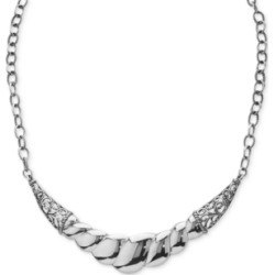 Wide Filigree Rope-Style Statement Necklace in Sterling Silver found on Bargain Bro India from Macy's Australia for $176.78