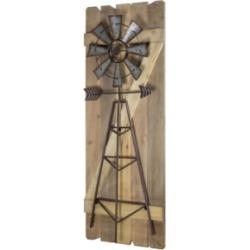 American Art Decor Windmill Arrow Wood Hanging Wall Decor