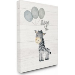 "Stupell Industries Adventure is Out There Zebra Canvas Wall Art, 30"" x 40"""