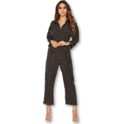 Ax Paris Women's Polka Dot Belted Jumpsuit found on Bargain Bro Philippines from Macy's for $43.99
