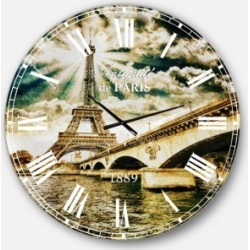 Designart Cityscape Photo Oversized Round Metal Wall Clock found on Bargain Bro Philippines from Macy's Australia for $301.11