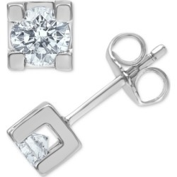 Diamond (1/2 ct. t.w.) Stud Earrings in 14k White Gold found on Bargain Bro India from Macy's for $1267.60