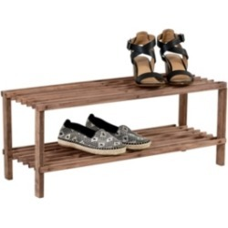 Honey Can Do 2-Shelf Shoe Rack, Espresso