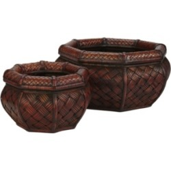 Nearly Natural Rounded Octagon Decorative Planters - Set of 2 found on Bargain Bro Philippines from Macy's for $134.00