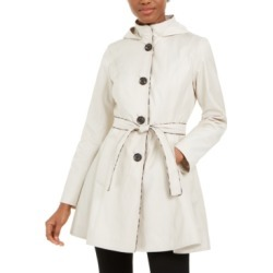 Laundry by Shelli Segal Belted Hooded Raincoat found on MODAPINS from Macy's for USD $107.99