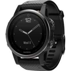 Garmin Unisex fenix 5S Sapphire Black Strap Analog-Digital Gps Smart Watch 42mm 010-01685-10