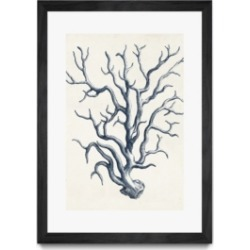 """Giant Art Coastal Collection in Indigo Iv Matted and Framed Art Print, 36"""" x 52"""""""