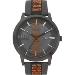 Versus by Versace Men's Barbes Solar Black & Grey Canvas Strap Watch 44mm found on Bargain Bro Philippines from Macy's for $185.00