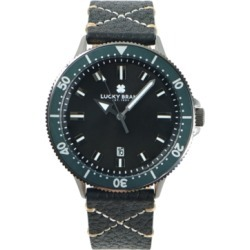 Lucky Brand Mens Dillon Charcoal Leather Strap 42 mm found on Bargain Bro India from Macy's for $145.00