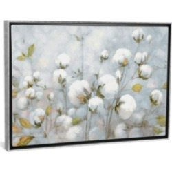 "iCanvas Cotton Field in Blue Gray by Julia Purinton Gallery-Wrapped Canvas Print - 18"" x 26"" x 0.75"""