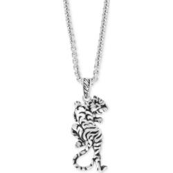 "Effy Men's Tiger 22"" Pendant Necklace in Sterling Silver"