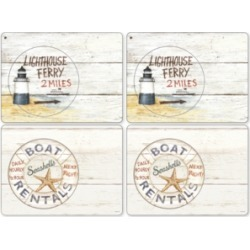 Pimpernel Coastal Signs Set of 4 Placemats
