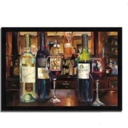 Tangletown Fine Art A Reflection of Wine by Marilyn Hageman Framed Painting Print, 39