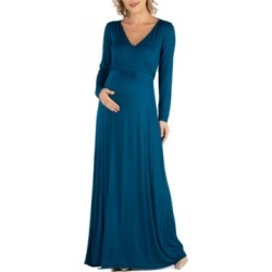 24Seven Comfort Apparel Semi Formal Long Sleeve Maternity Maxi Dress found on MODAPINS from Macy's for USD $72.00