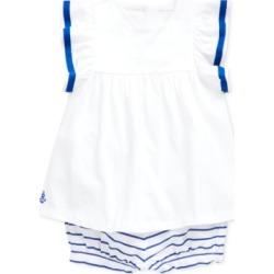 Polo Ralph Lauren Baby Girls Cotton Top & Striped Bloomer Set
