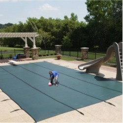 Blue Wave Sports Mesh In-Ground Pool Safety Cover with Center Step
