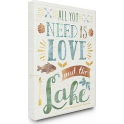 """Stupell Industries All You Need is Love and The Lake Canvas Wall Art, 24"""" x 30"""""""