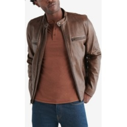 Lucky Brand Men's Retro Leather Jacket found on MODAPINS from Macy's for USD $499.00