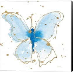 Gilded Butterflies V by Shirley Novak Canvas Art