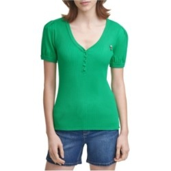 Karl Lagerfeld Paris V-Neck Short-Sleeve Sweater found on MODAPINS from Macy's for USD $41.70