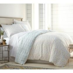 Southshore Fine Linens Blue Confetti Reversible Printed Duvet Cover and Sham Set, Full/Queen Bedding