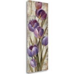 Tangletown Fine Art Royal Purple Tulips Ii by Silvia Vassileva Giclee on Gallery Wrap Canvas, 13